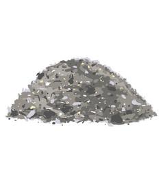 Heap trash isolated vector