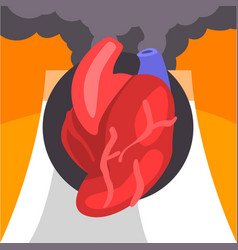 human heart people suffering from fine dust vector image