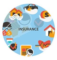 Insurance emblem vector image