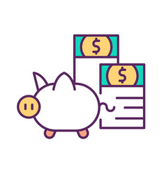 investing savings rgb color icon vector image