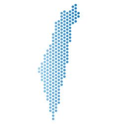 israel map honeycomb scheme vector image
