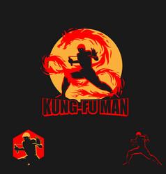 Kungfu man symbol vector