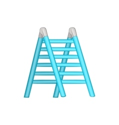 Ladder icon cartoon style vector