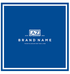 Letter az rectangle logo design vector
