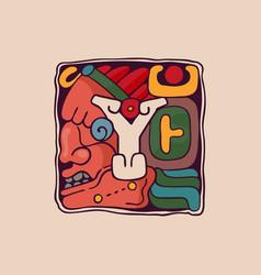 Letter y logo in aztec mayan or incas style vector