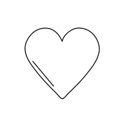 line beauty heart symbol of love and romance vector image