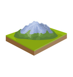 mountains rocks and landscape relief and vector image