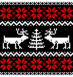 Nordic pattern on black vector image vector image