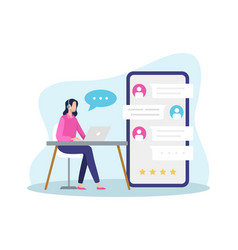 online customer support vector image