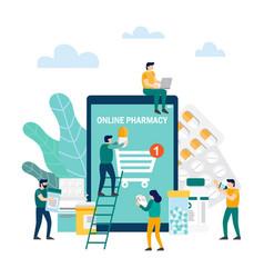 online pharmacy concept flat vector image