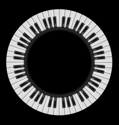 Piano keys abstract for creative design on black vector