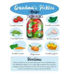 Pickles recipe page vector