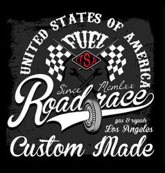 Race t shirt graphic design vector