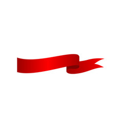 red festive closeup ribbon isolated icon vector image