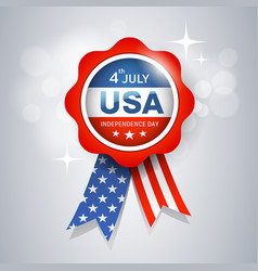 ribbon award flag united states design vector image