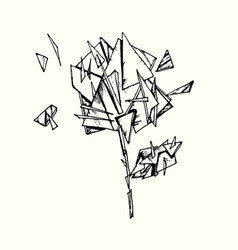Rose with glass shards vector