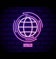 Satellite icon with globe element logistics vector