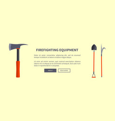 Set of special isolated fire protection equipment vector