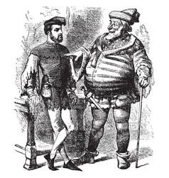 sir jonathan falstaff vintage vector image