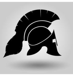 spartans helmets silhouette vector image