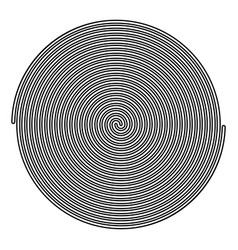 Spiral icon black color flat style simple image vector