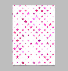Star pattern brochure template - page background vector