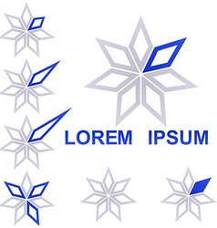 Star technology symbol design set vector