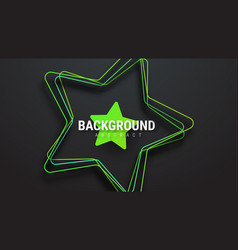 template of a black background with a green star vector image