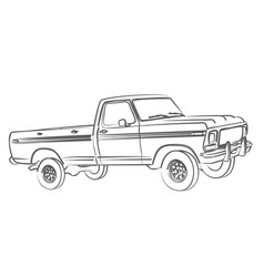 The truck sketch vector
