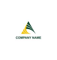 Triangle abstract company logo vector