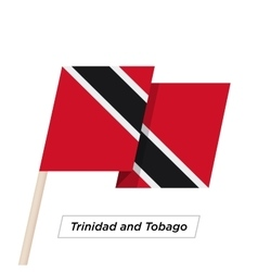 Trinidad and Tobago Ribbon Waving Flag Isolated on vector