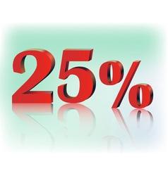 Twenty five percent vector