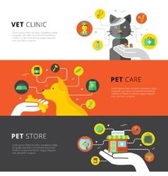 Veterinary Horizontal Banners vector