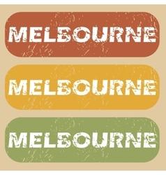Vintage Melbourne stamp set vector image