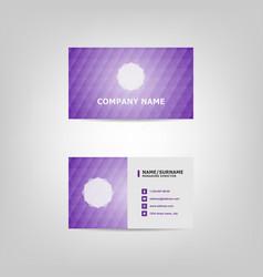 violet pattern business card design template vector image