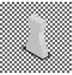 white chess piece rook isometric vector image