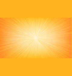 white light speed line burst ray on orange vector image vector image