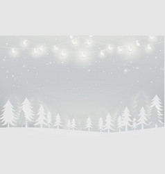 winter landscape and snowflakes christmas trees vector image