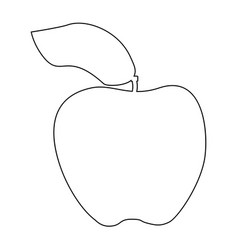 Apple the black color icon vector
