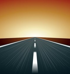 blurred road vector image vector image