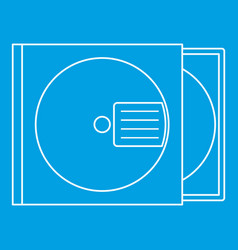cd box icon outline style vector image vector image