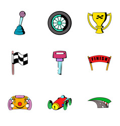 competition icons set cartoon style vector image vector image