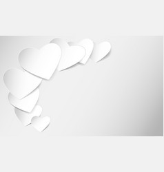 heart shaped note paper vector image
