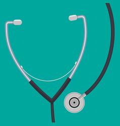 medical stethoscope or phonendoscope vector image