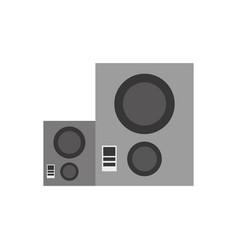 music baffle speaker vector image