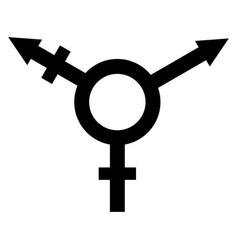 sign symbol of gender equality vector image