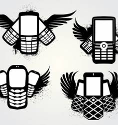 cell emblems grunge vector image vector image