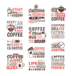 hand drawn coffee badge vector image