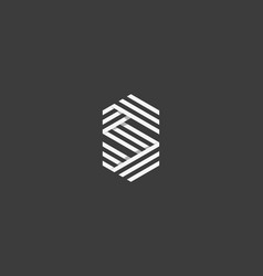 Line letter s logotype abstract geometric logo vector