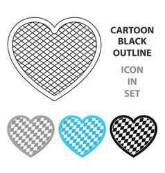 oktoberfest heart icon in cartoon style isolated vector image